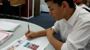 Gabriel working
